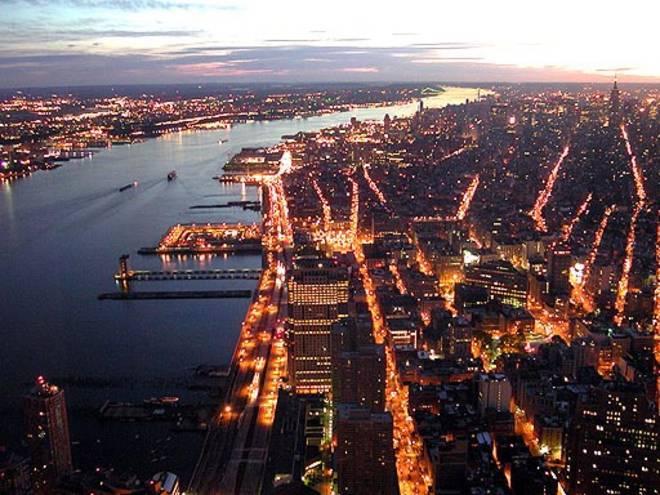 New York dalla Torre Nord del World Trade Center